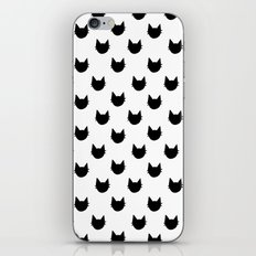 Black and white cat pattern iPhone & iPod Skin