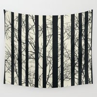 naked Wall Tapestries featuring Naked forest by Rceeh