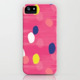 Spotty Pink iPhone Case