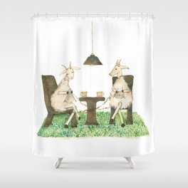 Sheep knitting Shower Curtain