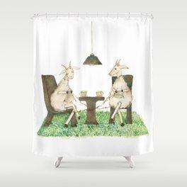 Sheep knitting Shower Curtain