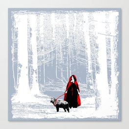 red riding hood's pet Canvas Print