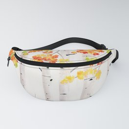 Autumn Birch Song Fanny Pack