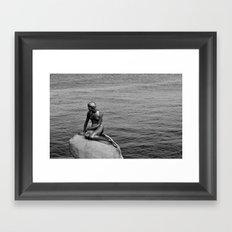 Little Mermaid, Copenhagen, Denmark. Framed Art Print