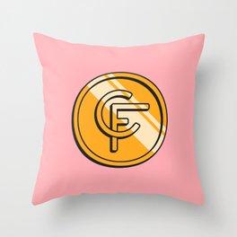 Coinfinds Logo Throw Pillow