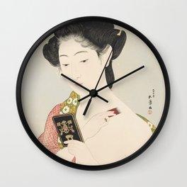 Make-up, Goyo Hashiguchi, 1918 Wall Clock