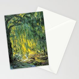 Weeping Willow by Claude Monet Stationery Cards
