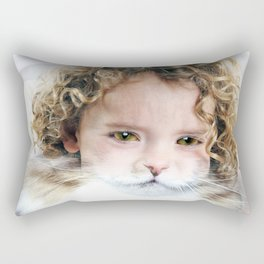 A child Cat Rectangular Pillow