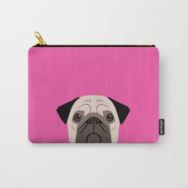 Taylor - Pug dog art phone case for pet lovers and dog people Carry-All Pouch