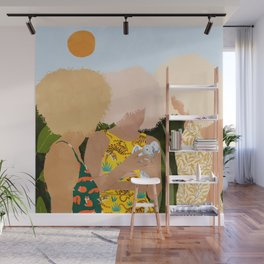 Nature Lovers #illustration #painting Wall Mural
