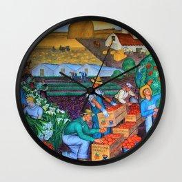 Coit Tower 'Orange Grove mural,' San Francisco, California Wall Clock