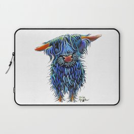 Scottish Highland Cow ' THoMaS ' by Shirley MacArthur Laptop Sleeve