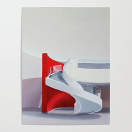 spiral on red Poster
