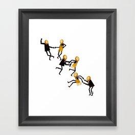 Lindy Hop Dancers Framed Art Print