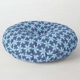 Pastel Blue Flower Floor Pillow