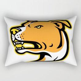 American Staffordshire Terrier Head Mascot Rectangular Pillow