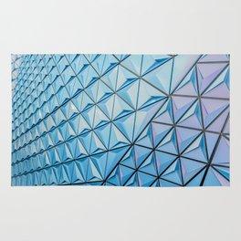 Light Blue Geometric Pattern Rug