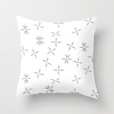 Lines Into Stars Throw Pillow