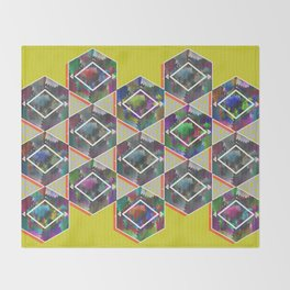 Tribal Octagon Vibes Textured Home Goods Urban Pattern Throw Blanket