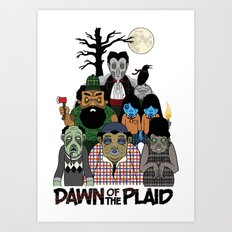 Dawn of the Plaid Art Print
