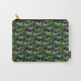 Peacock Feathers Seamless Pattern Carry-All Pouch