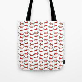 Christmas dachshund pattern Tote Bag