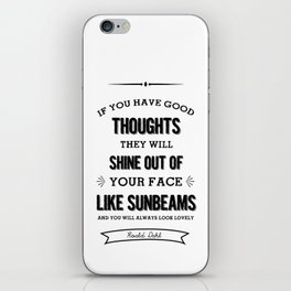 Roald Dahl quote  iPhone Skin