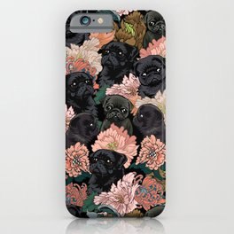 Because Black Pug iPhone Case