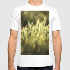 Summer Grass Portrait Mens Fitted Tee White MEDIUM