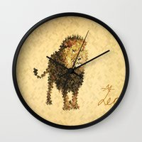 leo Wall Clocks featuring LEO by SensualPatterns