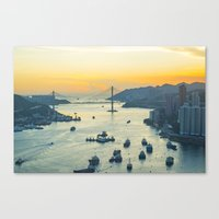 hong kong Canvas Prints featuring Hong Kong by Rothko