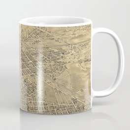 Vintage Pictorial Map of Elizabeth NJ (1898) Coffee Mug