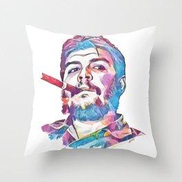 Ernesto Che Guevara Smoking Cigar Throw Pillow