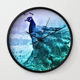 Blue Peacock by GEN Z Wall Clock