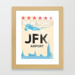 JFK stylish airport code Framed Art Print