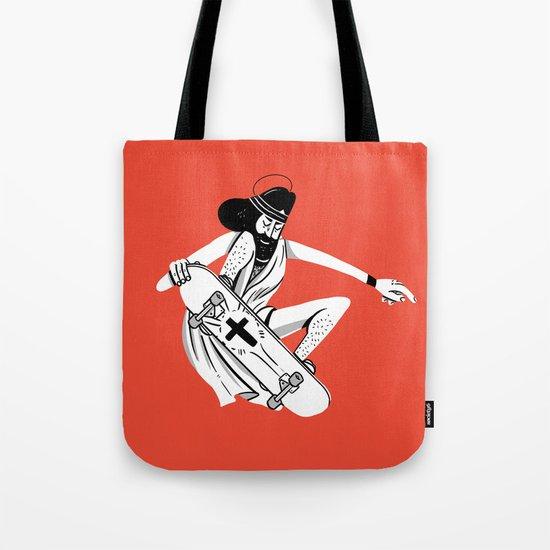 Jesus Skates Tote Bag