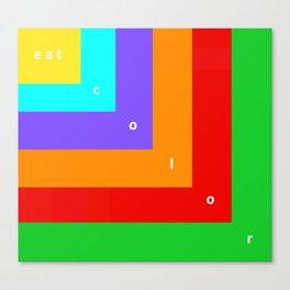 Eat Color Canvas Print