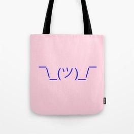 Hands Up Emoji Shrug - Pink and Blue Tote Bag