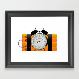 Time Bomb Framed Art Print