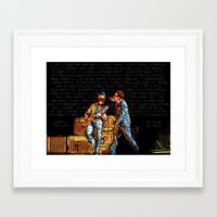 u2 Framed Art Prints featuring U2 / Bono / Edge / Until The End Of The World by JR van Kampen