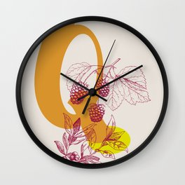 Q Wall Clock