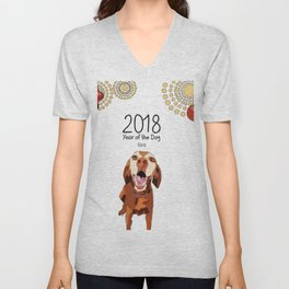 Year of the Dog - Vizsla Unisex V-Neck