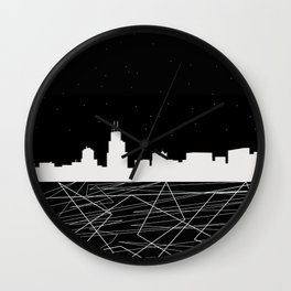 Chicago nightscape Wall Clock