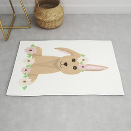 Cute bunny rabbit loaf  Rug