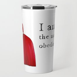 Outlander Claire Fraser Red Dress Not Obedient Quote Watercolor Travel Mug