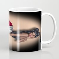 minnie mouse Mugs featuring Minnie by Hayley Blythe Art