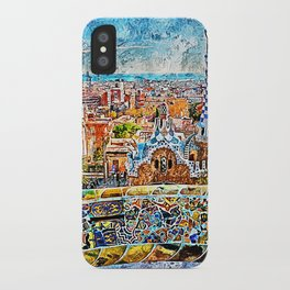 Barcelona, Parc Guell iPhone Case