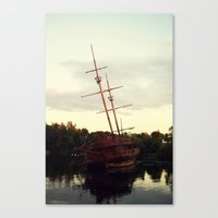 pirate ship Canvas Prints featuring Pirate Ship by BrandiNicole-Photography&Design