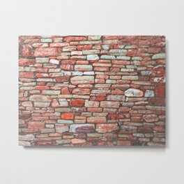 Brick Wall (Color) Metal Print