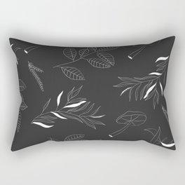Botanical Print Rectangular Pillow